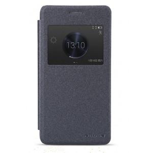 Чехол флип на пластиковой основе с магнитной застежкой серия Colors для Huawei Honor 6 Plus Черный