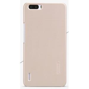 Пластиковый матовый нескользящий премиум чехол для Huawei Honor 6 Plus Бежевый