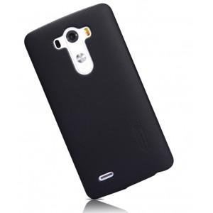 Премиум матовый пластиковый чехол LG Optimus G3 Черный