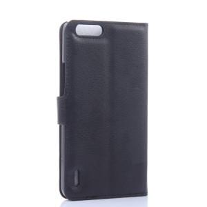 Чехол портмоне подставка с защелкой для Huawei Honor 6 Plus Черный