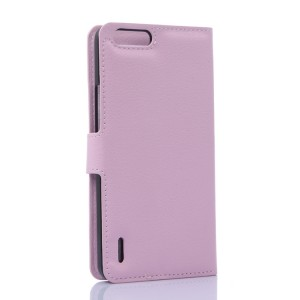 Чехол портмоне подставка с защелкой для Huawei Honor 6 Plus Розовый
