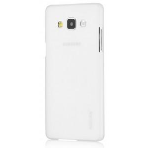 Пластиковый матовый металлик чехол для Samsung Galaxy A7 Белый