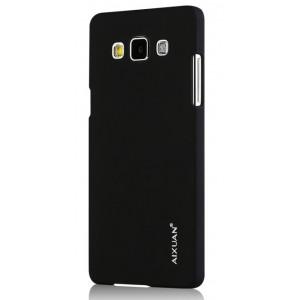 Пластиковый матовый металлик чехол для Samsung Galaxy A7 Черный