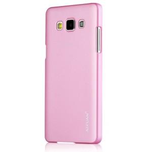 Пластиковый матовый металлик чехол для Samsung Galaxy A7 Розовый