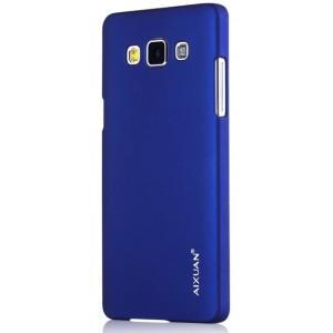 Пластиковый матовый металлик чехол для Samsung Galaxy A7 Синий