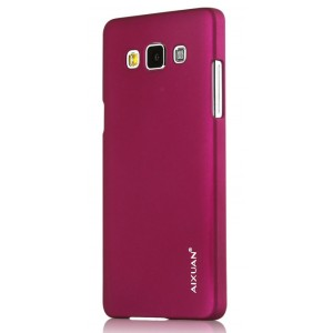Пластиковый матовый металлик чехол для Samsung Galaxy A7 Бордовый