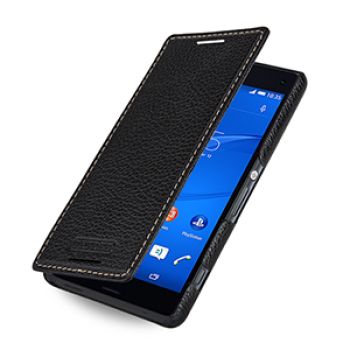 Кожаный чехол горизонтальная книжка (нат. кожа) для Sony Xperia Z3 Compact