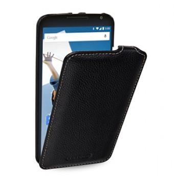 Кожаный чехол вертикальная книжка (нат. кожа) для Google Nexus 6