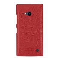 Кожаный чехол накладка (нат. кожа) серия Back Cover для Nokia Lumia 730/735