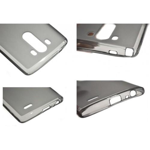 Силиконовый глянцевый чехол для LG Optimus G3 Белый