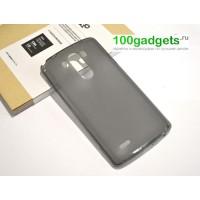 Силиконовый глянцевый чехол для LG Optimus G3 Черный
