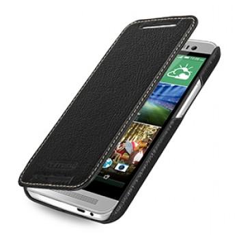 Кожаный чехол горизонтальная книжка (нат. кожа) для HTC One E8