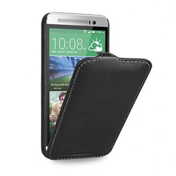 Кожаный чехол вертикальная книжка (нат. кожа) для HTC One E8