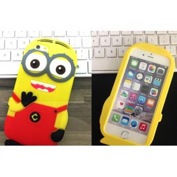 Силиконовый дизайнерский фигурный чехол серия Миньон для Iphone 6
