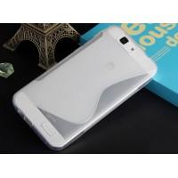 Силиконовый S чехол для Huawei Ascend G7 Белый