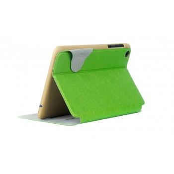 Чехол флип подставка текстурный на поликарбонатной основе с магнитной защелкой для Lenovo IdeaTab A5500