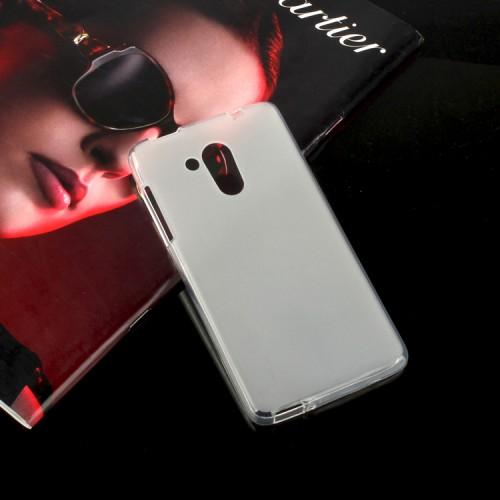 Силиконовый матовый полупрозрачный чехол для Acer Liquid Z500 Черный