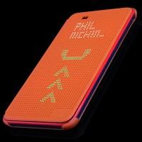 Точечный чехол смарт флип с функциями оповещения для HTC Desire 820 Оранжевый
