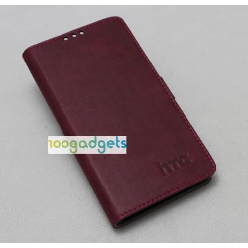 Кожаный чехол горизонтальная книжка (нат. кожа) для HTC Desire 820