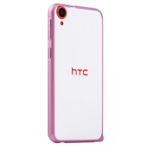 Металлический бампер для HTC Desire 820 Розовый