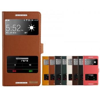 Чехол флип подставка с окном вызова и свайпом и магнитной застежкой для HTC Desire 820