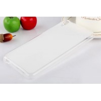 Силиконовый матовый полупрозрачный чехол для HTC Desire 820 Белый