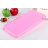 Силиконовый матовый полупрозрачный чехол для HTC Desire 820 Розовый