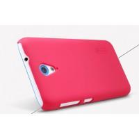 Пластиковый матовый нескользящий премиум чехол для HTC Desire 620 Пурпурный