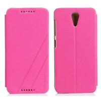 Чехол флип на пластиковой основе серия Colors для HTC Desire 620 Пурпурный