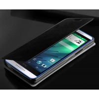 Чехол флип подставка водоотталкивающий для HTC Desire 620 Черный