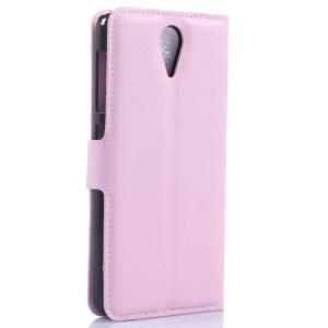 Чехол портмоне подставка с защелкой для HTC Desire 620 Розовый