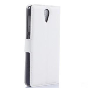 Чехол портмоне подставка с защелкой для HTC Desire 620 Белый