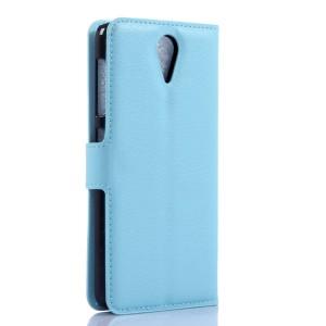 Чехол портмоне подставка с защелкой для HTC Desire 620 Голубой