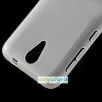 Силиконовый матовый непрозрачный чехол для HTC Desire 620 Белый