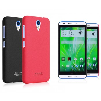Пластиковый матовый чехол с повышенной шероховатостью для HTC Desire 620