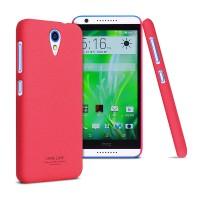Пластиковый матовый чехол с повышенной шероховатостью для HTC Desire 620 Розовый