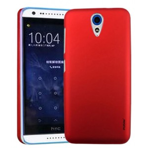 Пластиковый матовый металлик чехол для HTC Desire 620