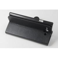 Чехол портмоне подставка с защелкой для Philips S388 Черный