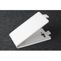 Чехол вертикальная книжка на пластиковой основе с магнитной застежкой для Philips S388 Белый