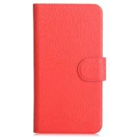 Чехол портмоне подставка с защелкой для Philips S388 Красный