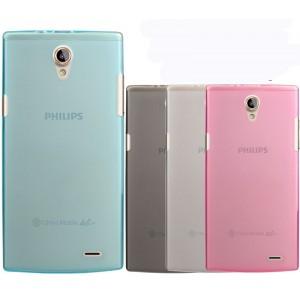 Силиконовый матовый полупрозрачный чехол для Philips S398