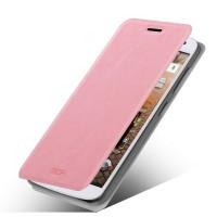 Чехол флип подставка водоотталкивающий для Huawei Ascend G7 Розовый