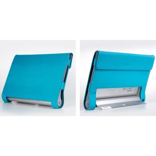 Чехол смартфлип подставка текстурный с рамочной защитой и магнитными клапанами крышки для Lenovo Yoga Tablet 2 8
