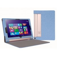 Чехол флип с рамочной защитой текстурный серия Golografy honeycomb для Lenovo Yoga Tablet 2 10 Голубой