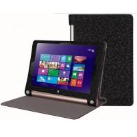 Чехол флип с рамочной защитой текстурный серия Golografy honeycomb для Lenovo Yoga Tablet 2 8 Черный