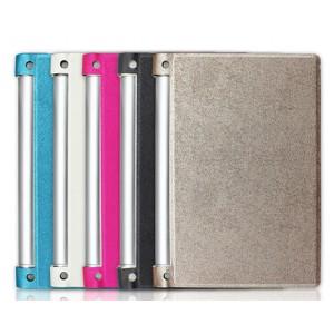 Чехол флип подставка текстурный серия Glossy Shield на поликарбонатной основе для Lenovo Yoga Tablet 2 10