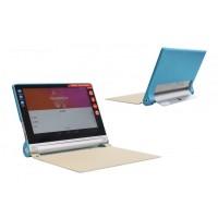 Чехол флип подставка текстурный серия Glossy Shield на поликарбонатной основе для Lenovo Yoga Tablet 2 10 Голубой