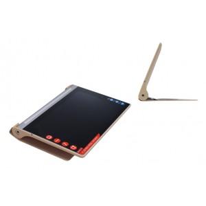 Чехол флип подставка текстурный серия Glossy Shield на поликарбонатной основе для Lenovo Yoga Tablet 2 8