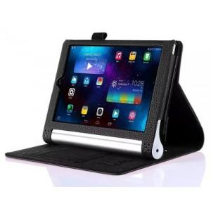 Чехол подставка с рамочной защитой экрана, отделениями для карт и поддержкой кисти для Lenovo Yoga Tablet 2 8