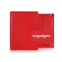Чехол подставка с полной защитой корпуса серия Full Cover для Lenovo Yoga Tablet 2 8 Красный